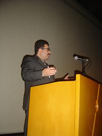 Feyyaz Kerimo Sempozyum'da Konuşma Yaparken