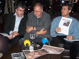 Prof.Davit Gaunt ve Halaçoğlu Basın Toplantısı Yaparken