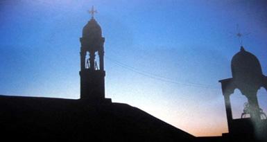 Manastırın Güneş Doğarken Görünüşü