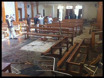 Saldırıdan Sonra Kilisenin İçi